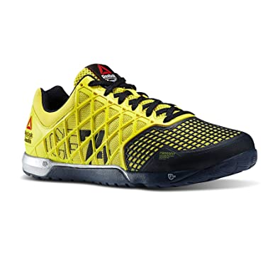 c91ec5ffdf9f Reebok Crossfit Nano 4.0 Mens Gym Training Shoes - Yellow-6  Amazon ...