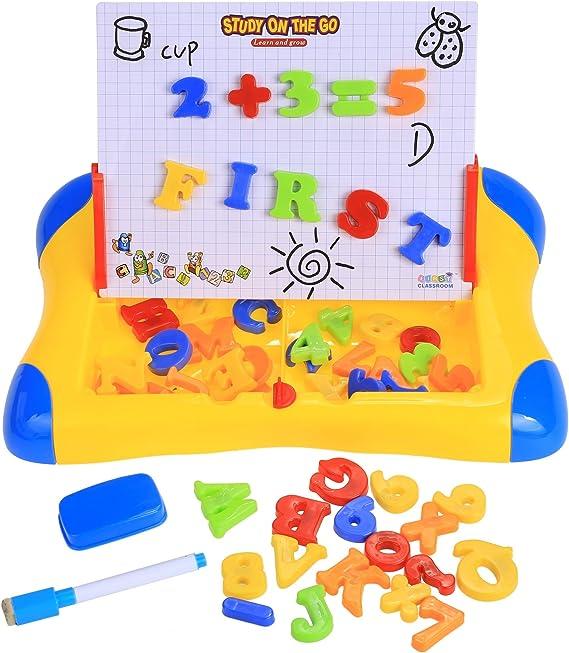 Pizarra Mágica yoliki Pizarra magnética (Niños con letras y números: Amazon.es: Juguetes y juegos