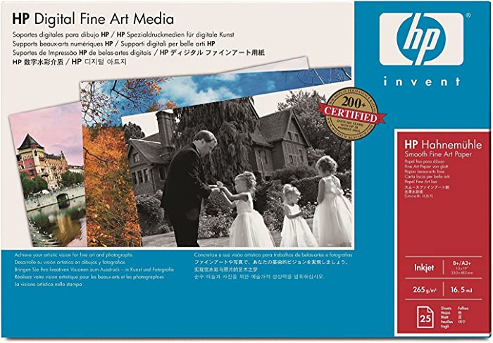 """HP Hahnemuhle Q8729A Watercolor Paper 13"""" X 19""""25 Sheets"""