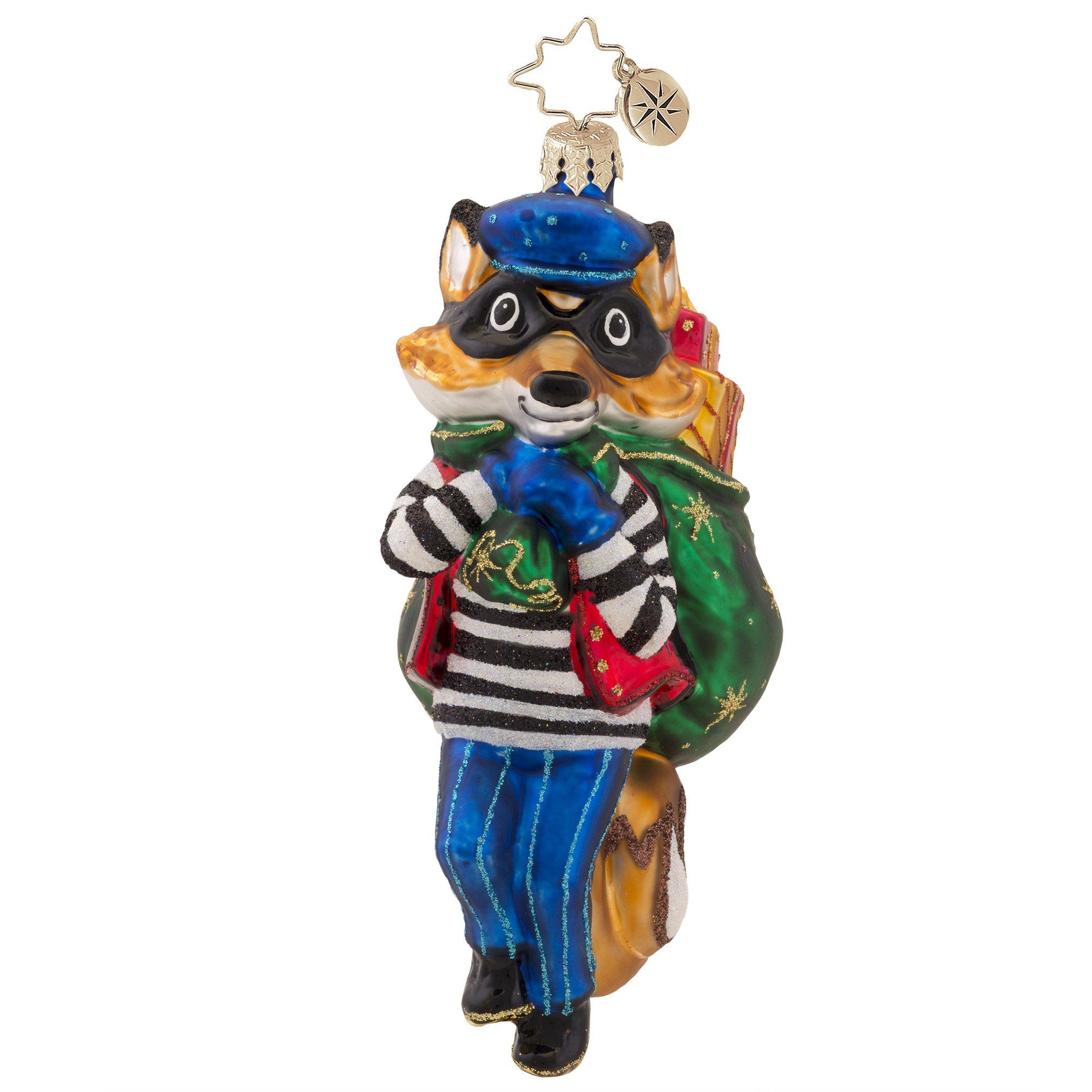 Christopher Radko Foxy Bandit Christmas Ornament