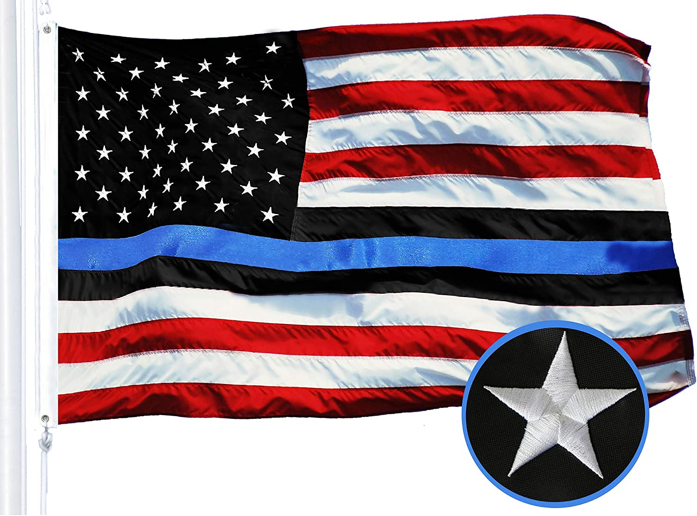 Black and White USA Stars Stripes Flag 3x5ft