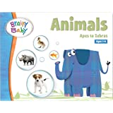 Brainy Baby Animals Board Book Apes to Zebras Deluxe Edition