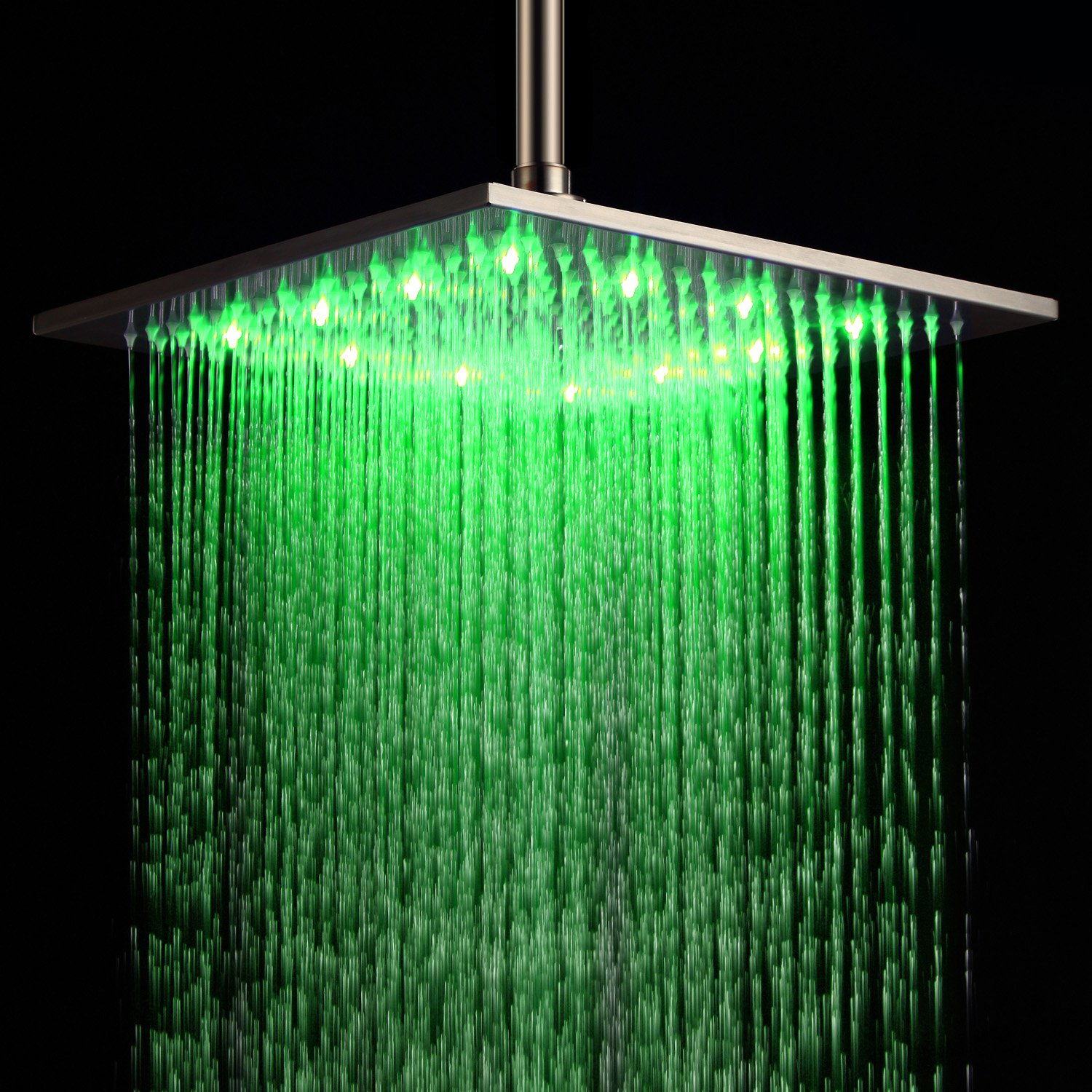 Ouku Stainless Steel Rainfall Shower Head 12 Inch Bathroom Square ...