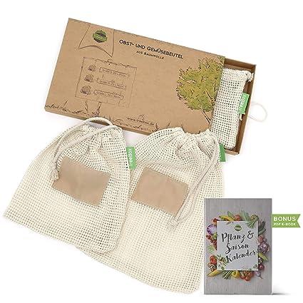 TreeBox - Bolsa premium para fruta y verdura de algodón en ...