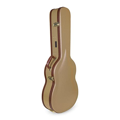 Crossrock - Estuche rígido de madera CRW600C con diseño de arco superior para guitarra acústica clásica