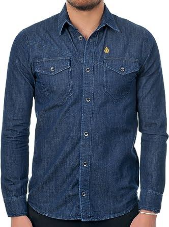 Volcom VBJ Denim LS Camisa para Hombre: Amazon.es: Ropa