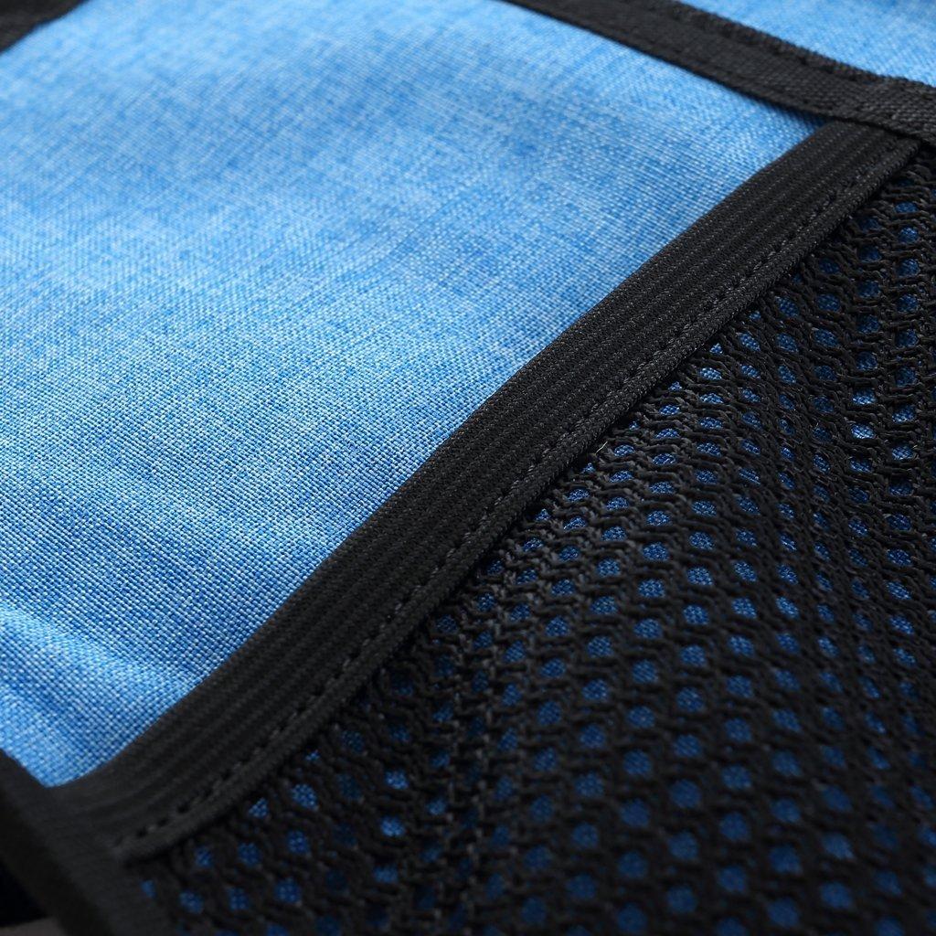 Durable Roll up Bag Cono de hielo Clavo de tierra Hang hebilla Protection Estuche de almacenamiento bolsa de lavado azul