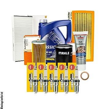 Siervo Mahle junta de filtro + Velas + + 5L Mannol 10 W-40 Aceite + accesorios: Amazon.es: Coche y moto