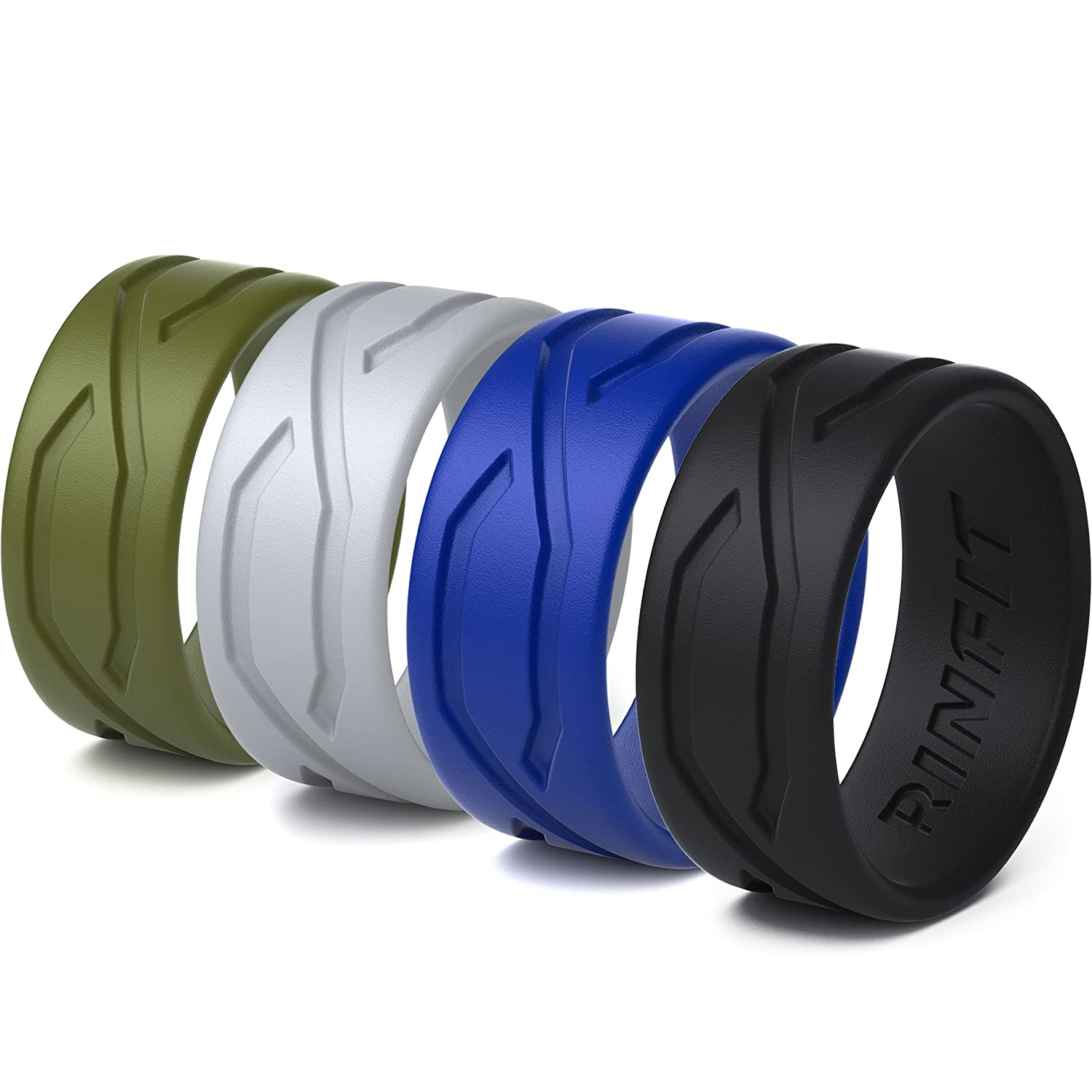 Amazon.com : Silicone Wedding Ring For Women - 5 Rings Pack ...