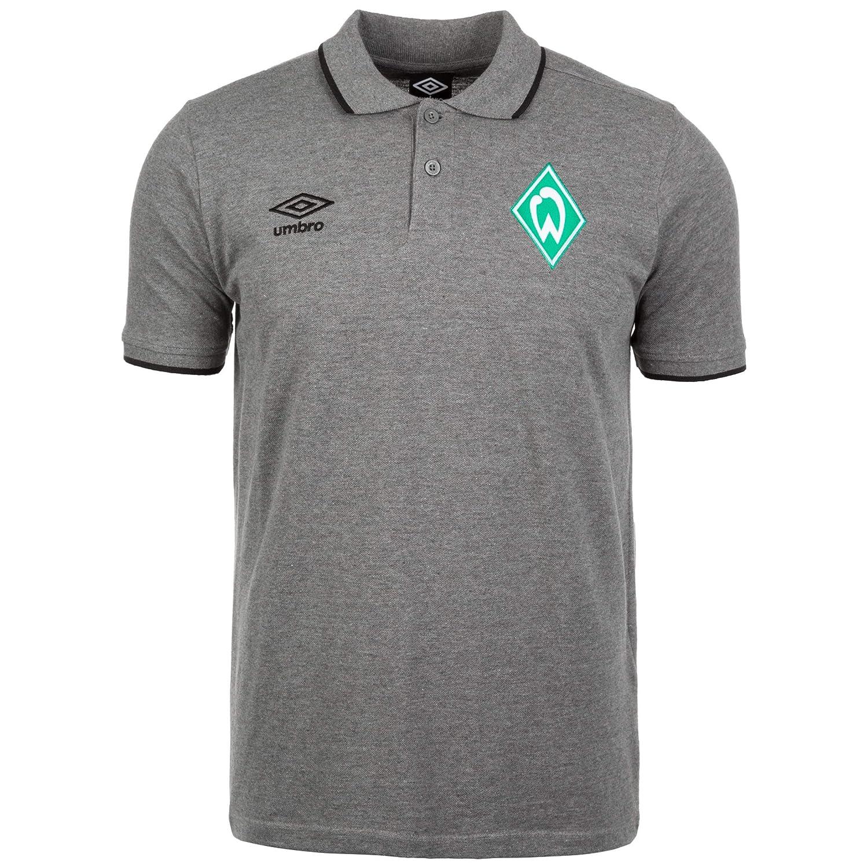 UMBRO SV Werder Bremen Tipped Polo, Hombre, Gris, Medium: Amazon ...