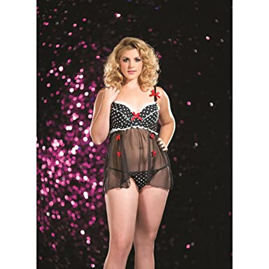923699029 Raveware Lingerie Women s Plus Size Sexy Pin-Up Vintage Lingerie Set with  Thong