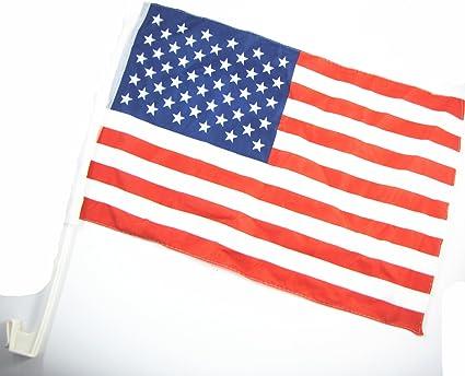 Amazon Com New 2pcs 8 X12 Car Flag Usa American National Flags