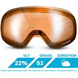 WildHorn Outfitters Roca Extra/Replacement Frameless Snow Goggle Lens