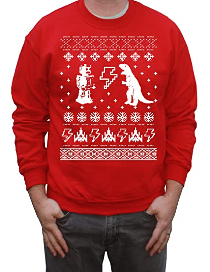 Happy Family Geeky Ugly Christmas Sweater Pullover Sweatshirt X