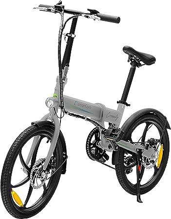 SMARTGYRO Ebike Crosscity Silver - Bicicleta Eléctrica Urbana, Ruedas de 20