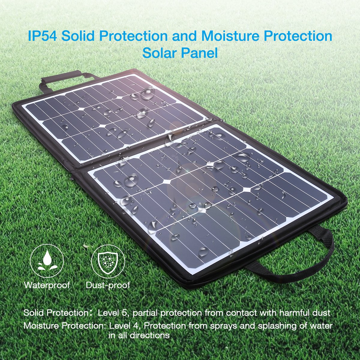 POWERADD [High Efficiency] 50W Solar Charger, 18V 12V SUNPOWER Solar Panel for Laptop, iPhone X / 8/8 Plus, iPad Pro, iPad mini, Macbook, iPad Samsung, ChargerCenter, Island Region and Country Tours by POWERADD (Image #2)