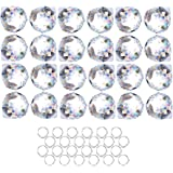 Crystalsuncatcher 24pcs Clear Crystal Ball Prism Suncatcher Rainbow Pendants Maker, Hanging Crystals Prisms for Windows…