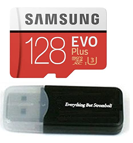 128GB Samsung Evo Plus Micro SDXC Class 10 UHS-1 128G Memory Card for Samsung Galaxy S8, S8+ Plus, S7, S7 Edge, S5 Active Cell Phone with Everything But Stromboli Card Reader (MB-MC128D) <span at amazon