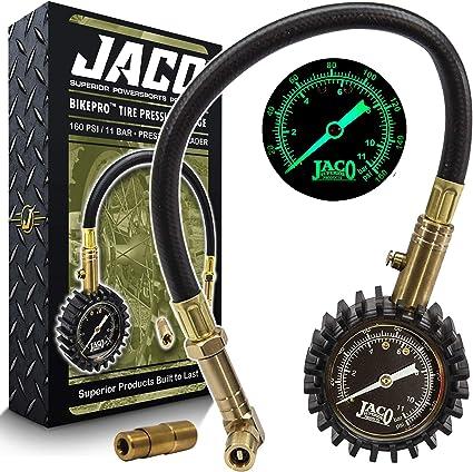 Bike Tire 0-160 psi Air Pressure Gauge Inflator for Road Mountain Bicycle Black