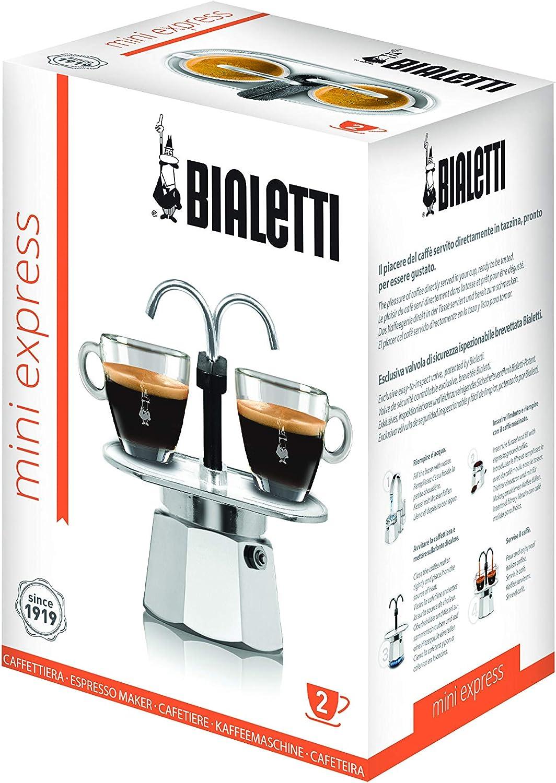 Bialetti Mini Express, Plata - Máquina de café: Amazon.es: Hogar