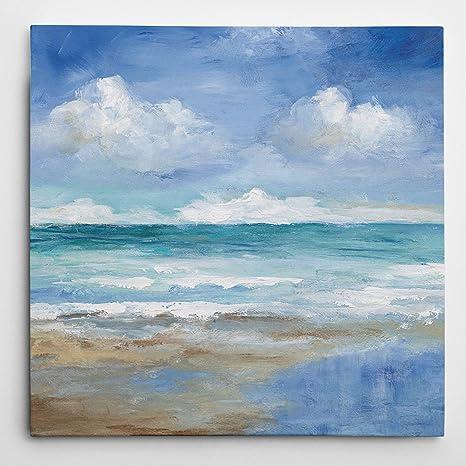 Wexford Home Carol Robinson Washy Coast Ii Gallery Wrapped Canvas Wall Art 24x24 Nan Chevron Power I Posters Prints