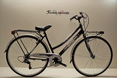 BICI TREKKING City bike donna 28 ACCIAIO verde 6v shimano personalizzabile