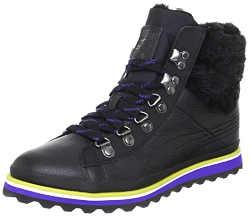 Puma City Snow Boot Fur Womens Leather Boots / Shoes - Black - SIZE UK 5