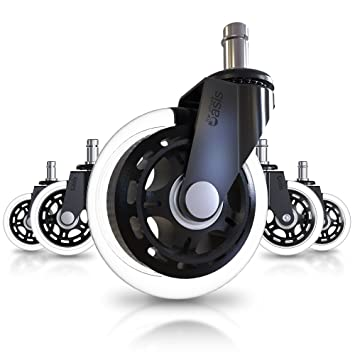 Amazoncom Office Chair Caster Wheels Set of 5 Heavy Duty