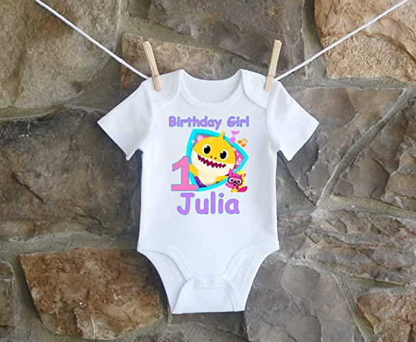 Amazon Baby Shark Birthday Shirt For Girls Personalized Customized