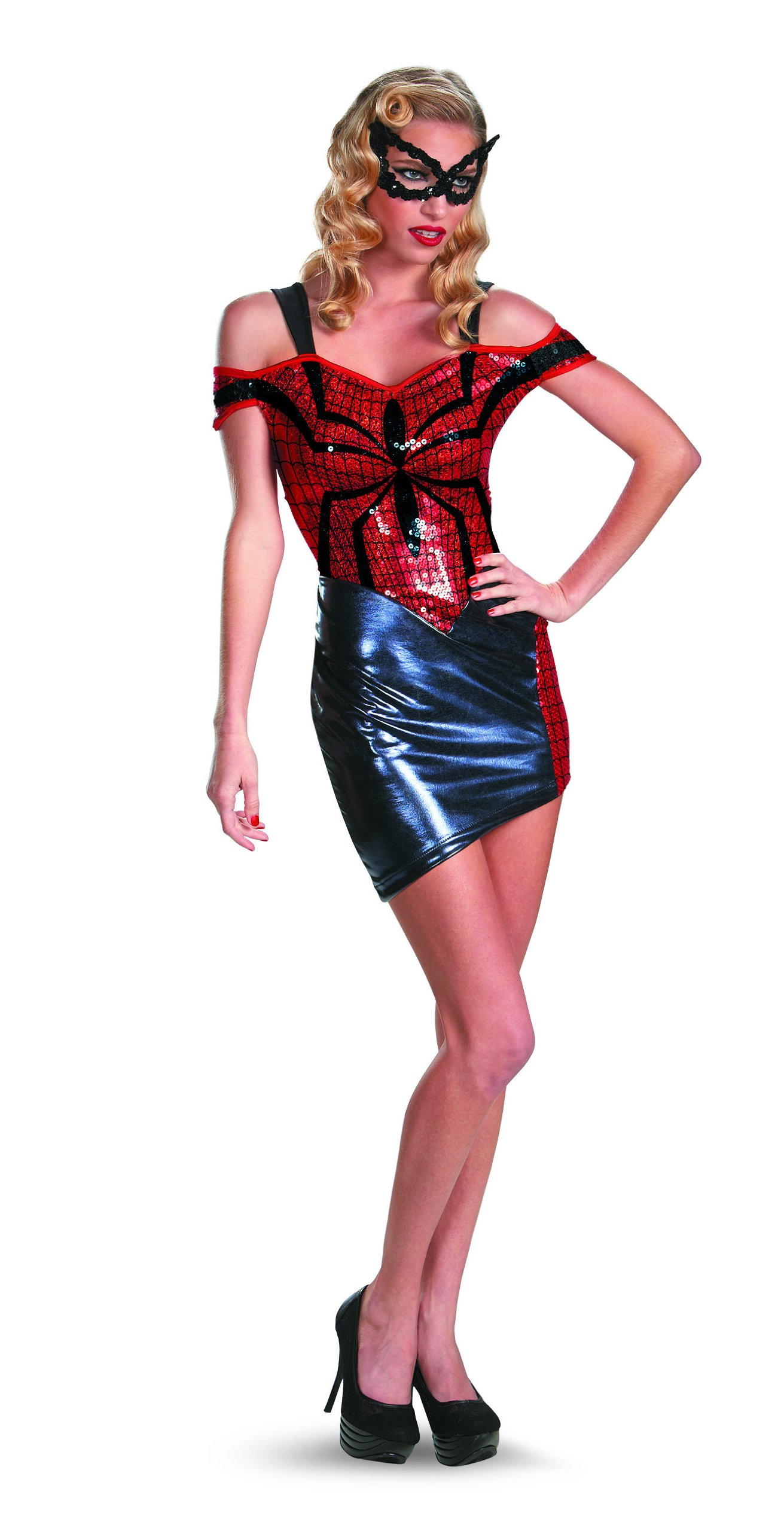- 81yVVwmh7yL - Marvel Disguise Women Of Mavel Spider-Man Spider-Girl Glam Womens Adult Costume