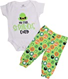 Unique Baby Unisex My First St. Patrick's Day Clover Pant Set