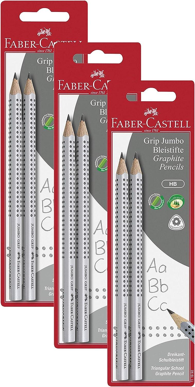 Faber-Castell 111992 Jumbo Grip HB - Lápices (2 unidades), 2er Pack, Lápiz Jumbo, 2: Amazon.es: Industria, empresas y ciencia
