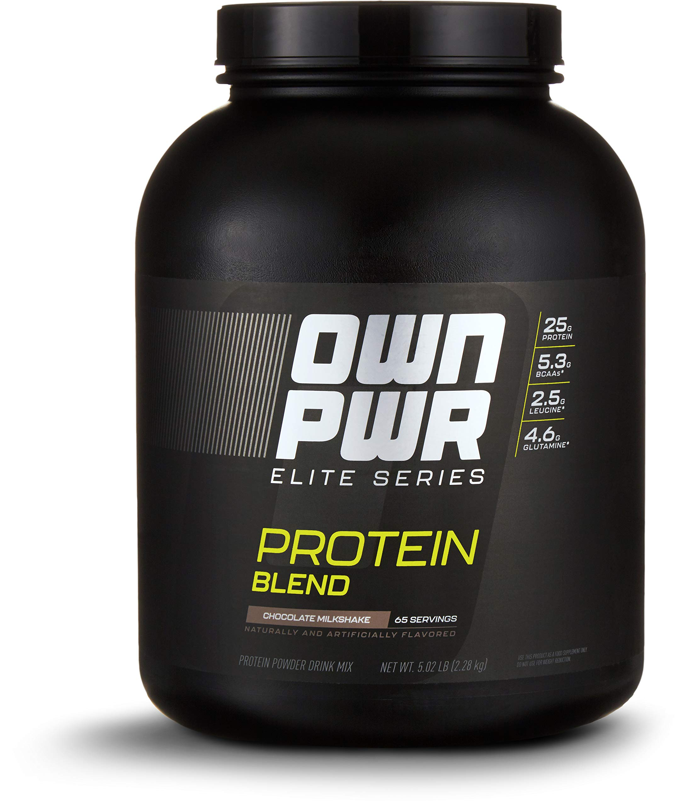 OWN PWR Elite Series Protein Powder, Chocolate Milkshake, 5 lb, Protein Blend (Whey Isolate, Milk Isolate, Micellar Casein)