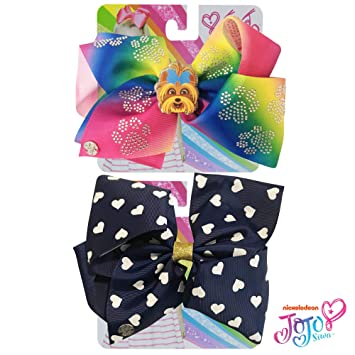 Amazon.com: Jojo Siwa - Lazo para niñas, 2 lazos y 3 ...