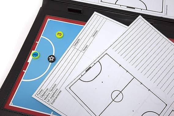 WISEPLAYERFC Carpeta Táctica para Entrenador de Fútbol Sala con Bolsillo: Amazon.es: Deportes y aire libre