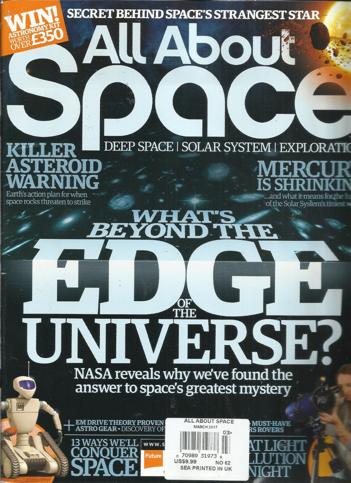 ALL ABOUT SPACE MAGAZINE, MARCH, 2017 DEEP SPACE SOLAR SYSTEM EXPLORATION