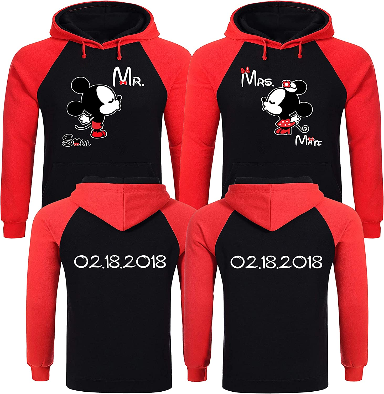 Couples Established Wedding Gifts Personalized Couple Hoodies