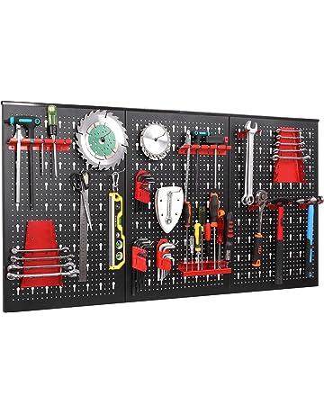 FIXKIT Panel para Herramientas de Metal 17 piezas, 120 x 60 cm, Organizador y