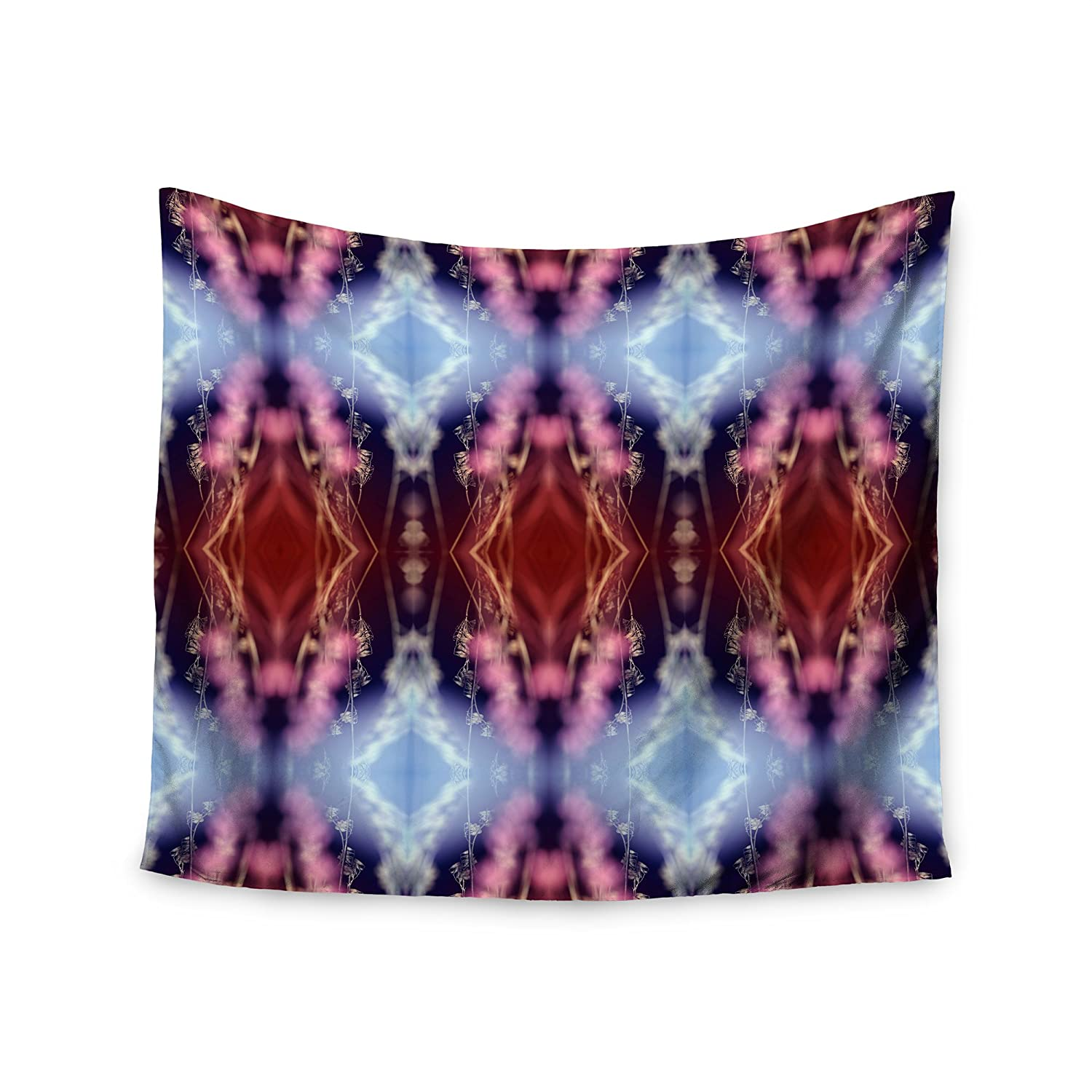 51 x 60 Kess InHouse Pia Schneider Abstract Floral Nature Blue Wall Tapestry
