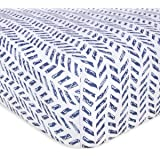 Burt's Bees Baby - Fitted Crib Sheet, Boys & Unisex 100% Organic Cotton Crib Sheet for Standard Crib and Toddler Mattresses (