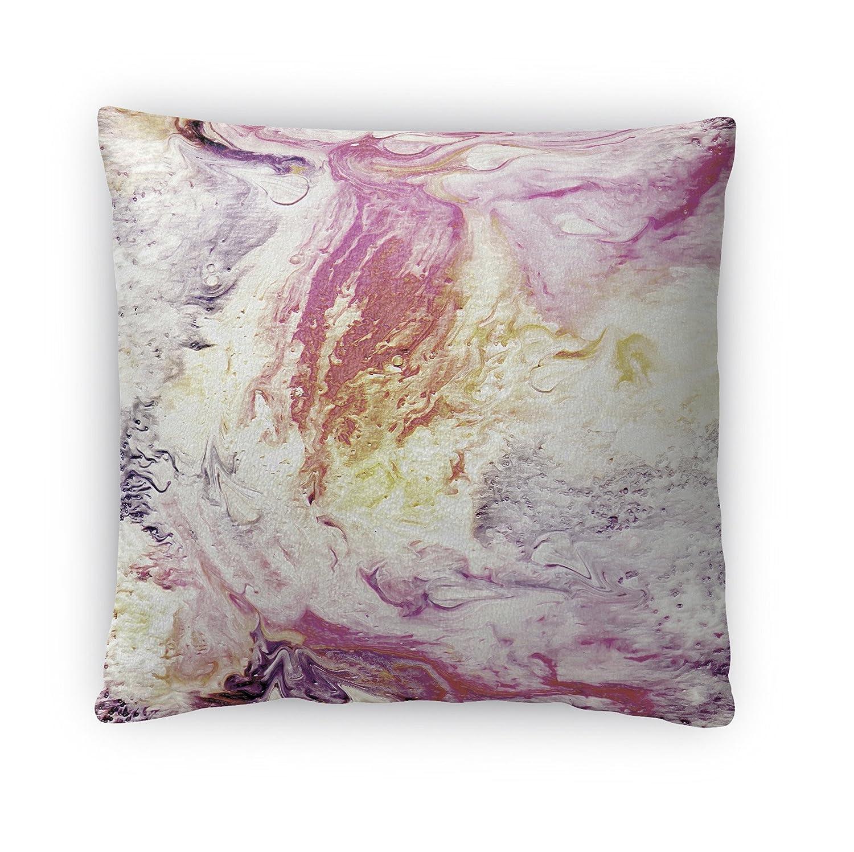Size: 18X18X4 - PLUAVC079FBS18 - KAVKA Designs Cosmos Fleece Throw Pillow, Pink//Purple//Yellow