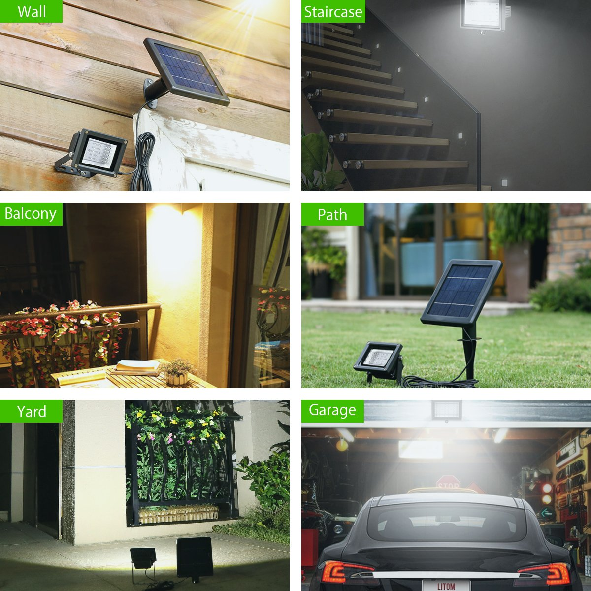 Solar Lights, Poweradd 30 LED Waterproof Wireless Solar Flood Outdoor Landscape Light for Path, Road, Garden, Yard, Patio