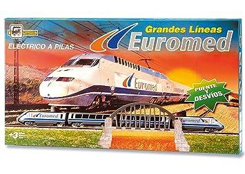 PEQUETREN - Euromed Renfe, tren con circuito de 3.4 m (780)