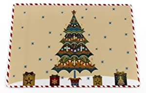 """Carnation Home Fashions """"Christmas Time Holiday Placemat, Set of 4"""