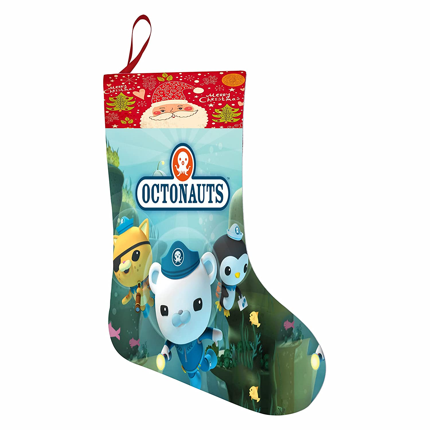 Amazon.com: Octonauts Christmas Holiday Stocking 3D Printed Santa ...