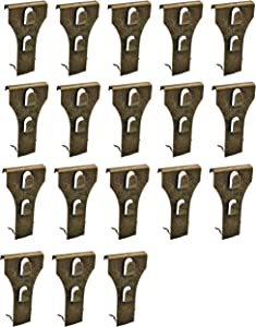 Brick Hook Clips - Bricks Hook Clip for Hanging Outdoors Wall Pictures, Metal Brick Hangers Fastener Hook Brick Clamps Brick Hooks Fireplace, Stone Hooks for Hanging Wreath Light Decorations (18 Pack)