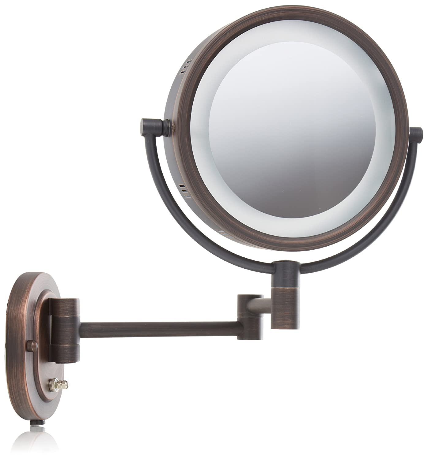 Amazon jerdon hl65bz 8 inch lighted wall mount makeup mirror amazon jerdon hl65bz 8 inch lighted wall mount makeup mirror with 5x magnification bronze finish personal makeup mirrors beauty amipublicfo Choice Image