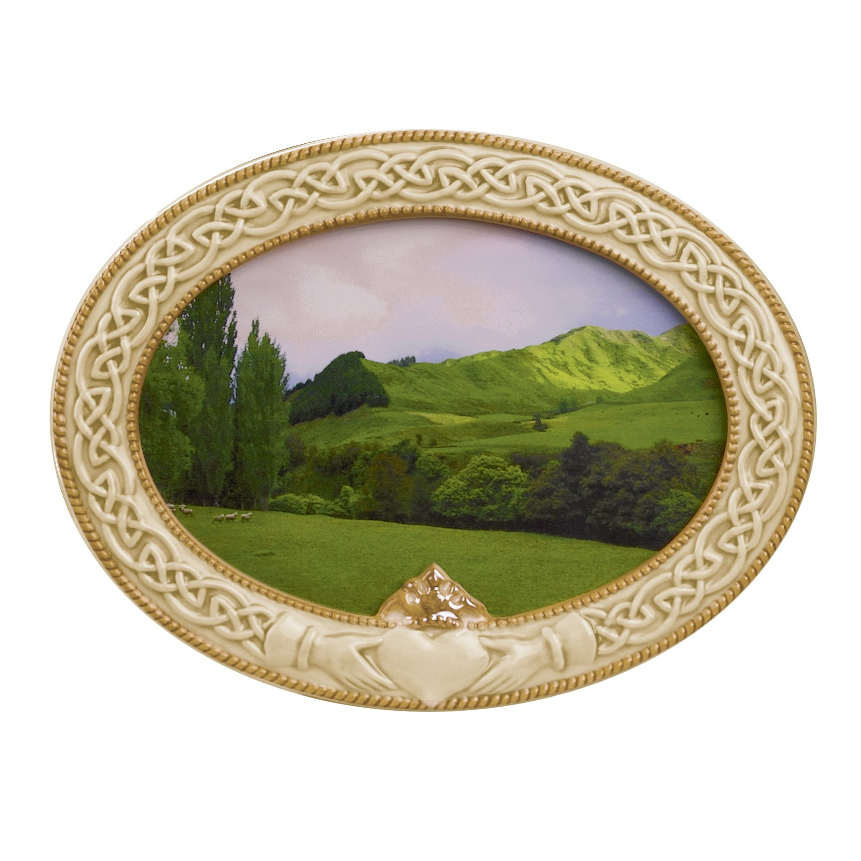 Grasslands Road 448684 Celebrating Heritage Celtic Claddagh Frame, 5-1/2 by 7-1/2-Inch, Holds 4 by 6 Photo