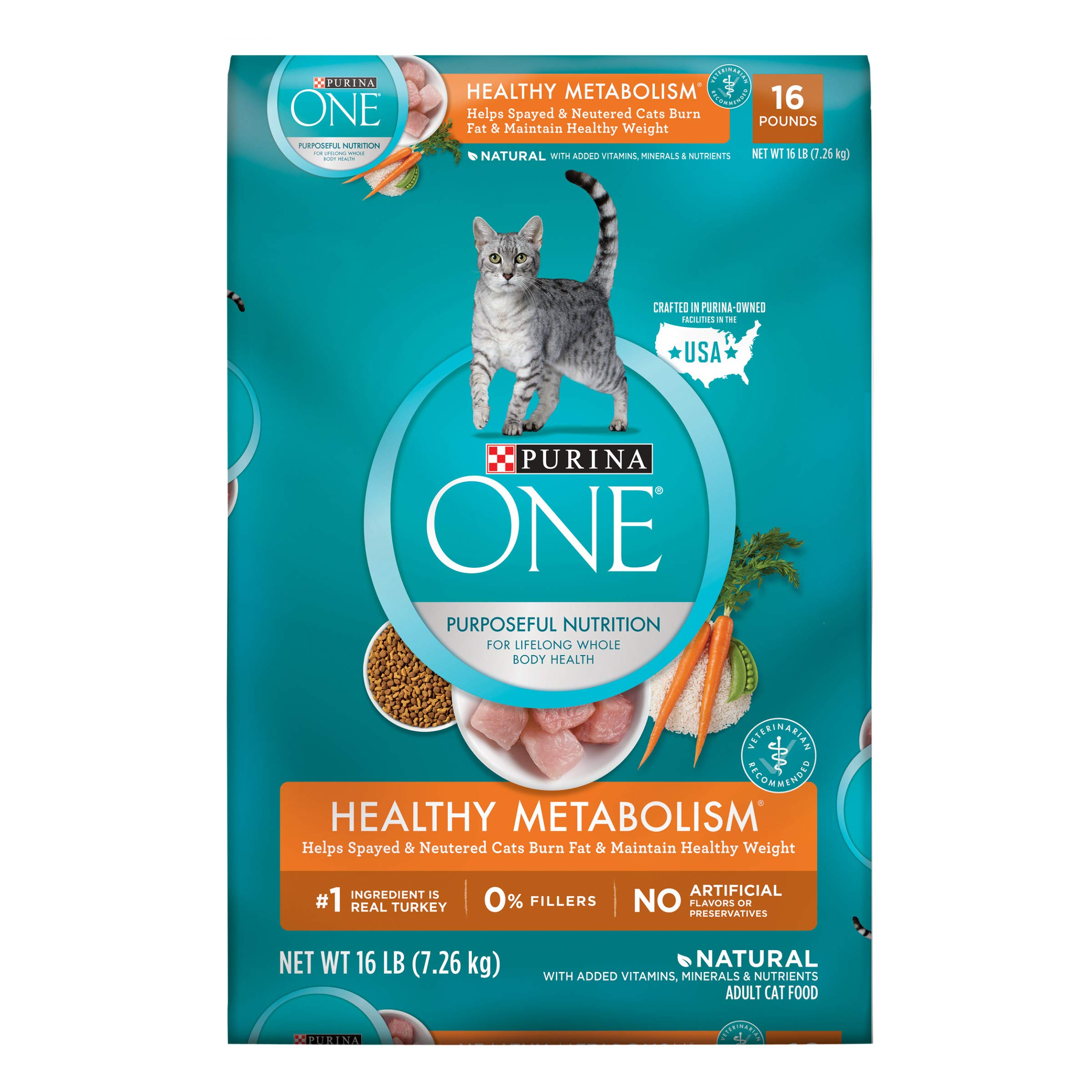 Purina ONE Weight Control, Natural Dry Cat Food, Healthy Metabolism - 16 lb. Bag by Purina ONE