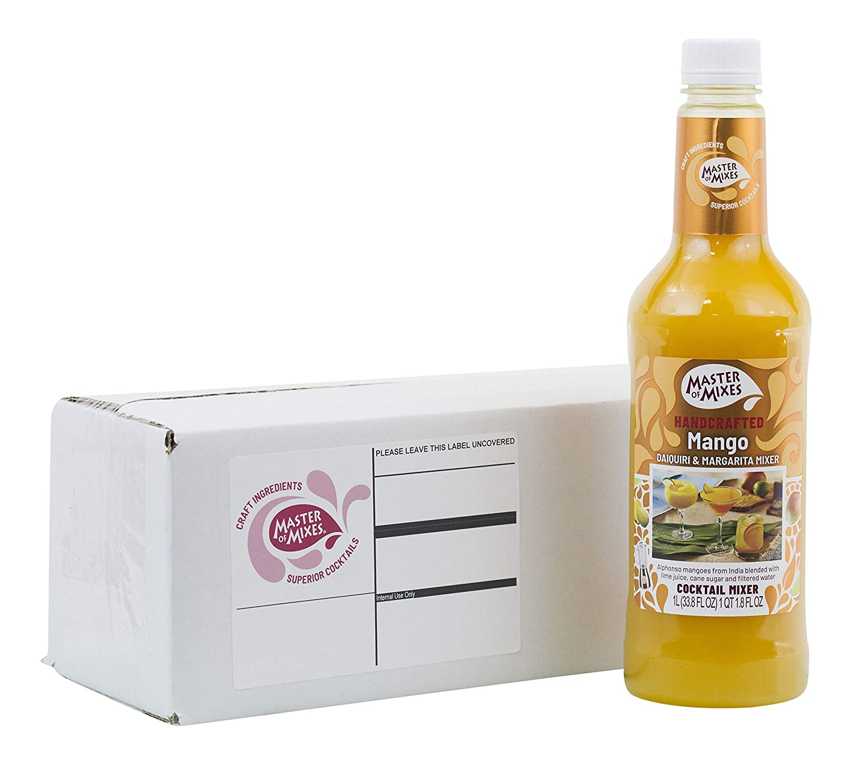 Master of Mixes Mango Daiquiri / Margarita Drink Mix, Ready to Use, 1 Liter Bottle (33.8 Fl Oz), Individually Boxed